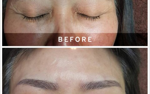 Brow recreation by Paramedics Aesthetics lead trainer and creative director Ms Eileen Seah